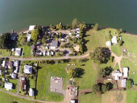 Aerial shot of this Caravan Park