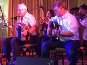 Irish musicians in action
