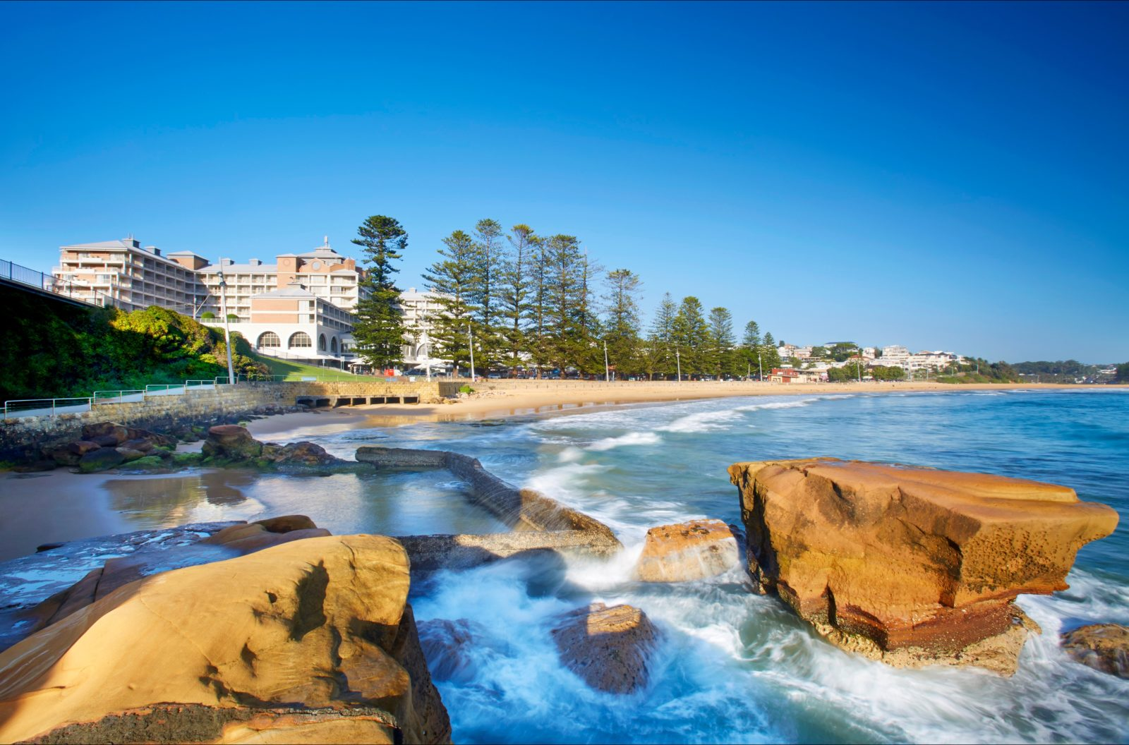 Crowne Plaza Terrigal from the beach