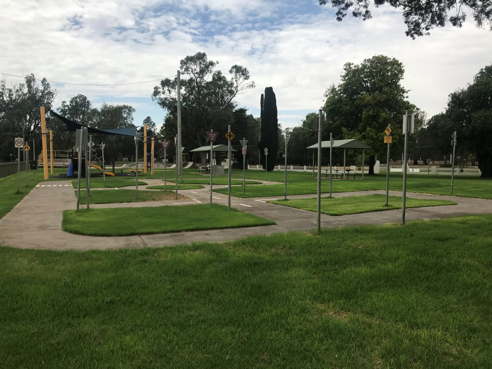 Park, bikes, playground
