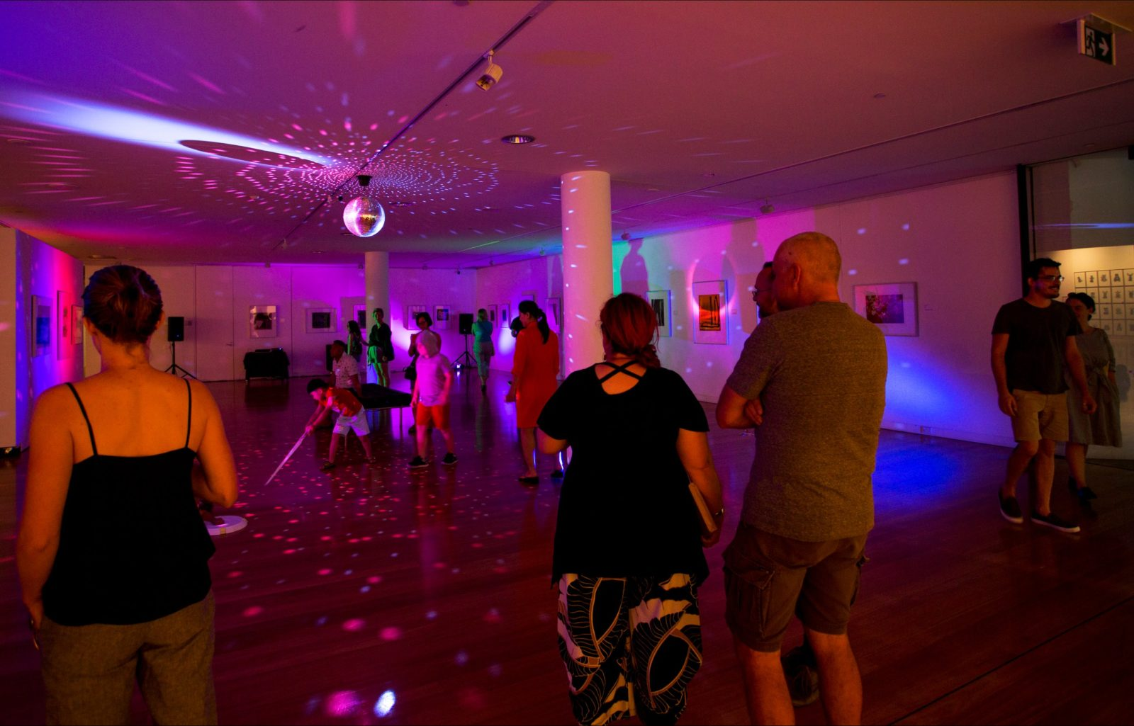 Revellers party in the Wagga Wagga Art Gallery