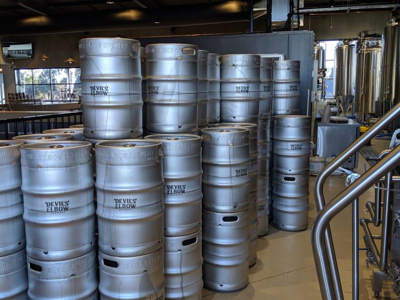 Kegs at the Brewery