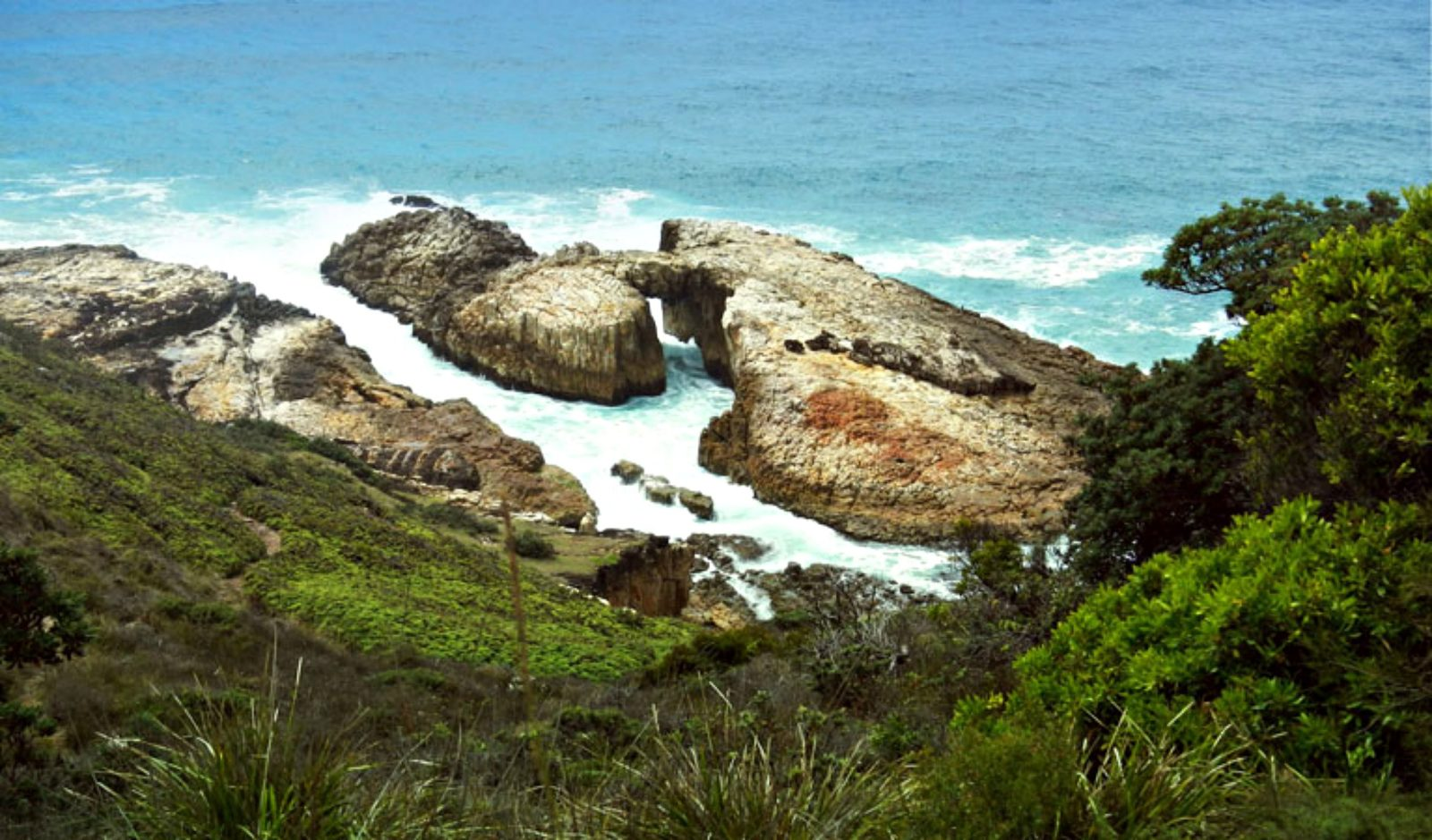 View of the natural arch on the Diamond Head Loop walk. Photo: Debby McGerty