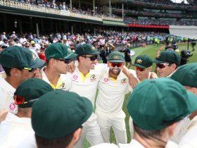 Australian Test Team Huddle