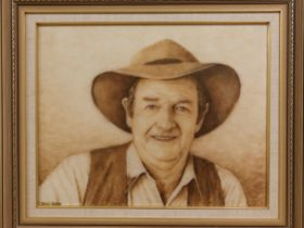 Slim Dusty - by wool artist Doris Golder