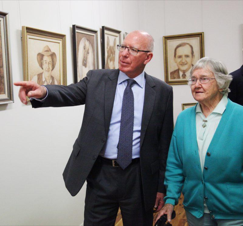 Wool Artist Doris Golder and NSW Governor General