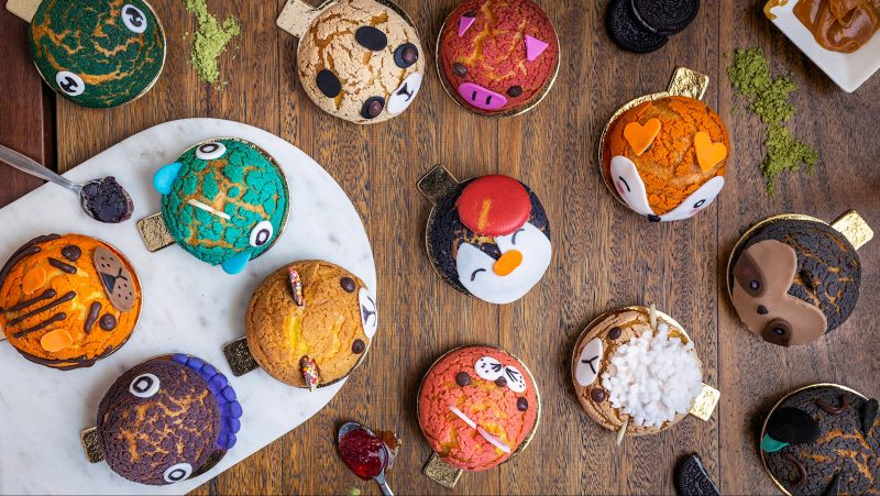 animal choux (aka animal puff) family by Doux Amour patisserie