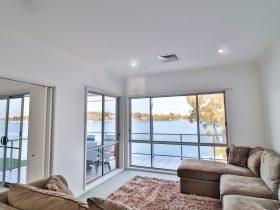 Lounge room lake views