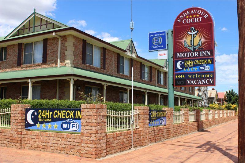 Corner Front of motel