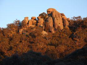 Evans Crown rock formation at Evans Crown Nature Reserve, Tarana, Blue Mountains