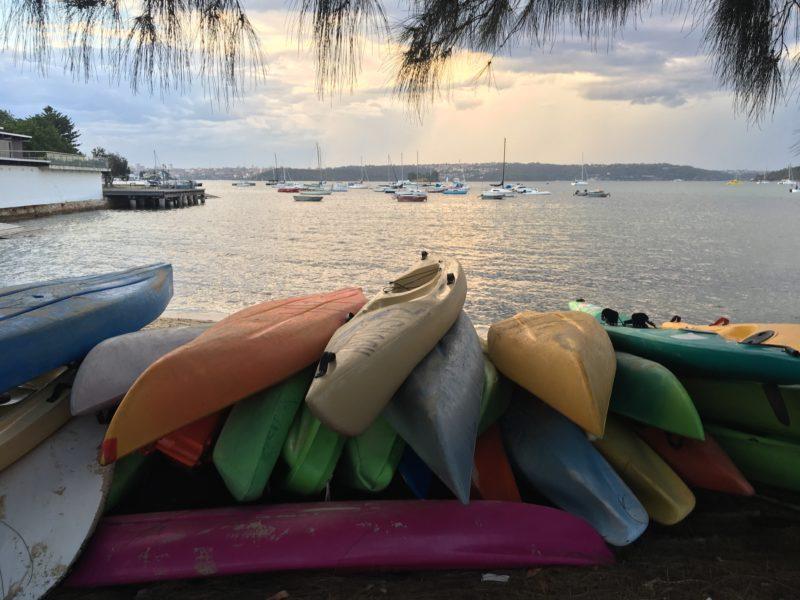 Kayaking at Rose bay foreshore