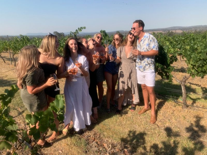 Being with friends in the vines