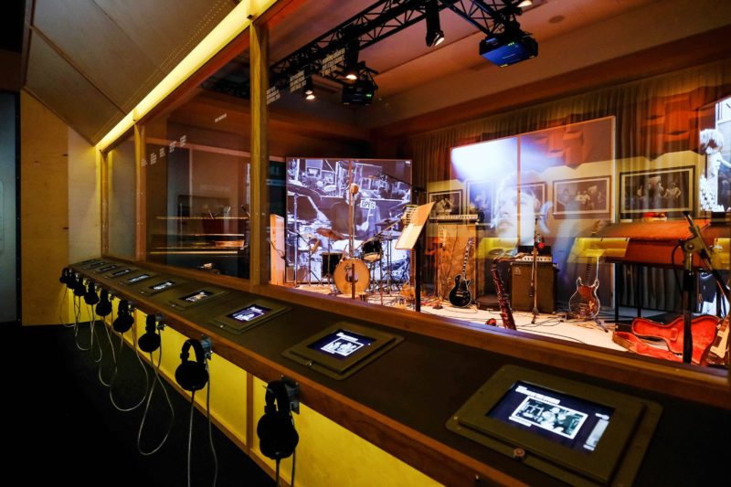 The interactive recording studio featured in Exhibitionism