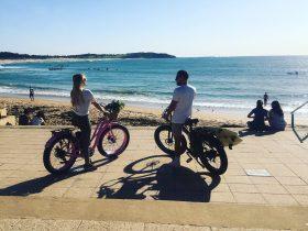 Bikes at Dee Why beach