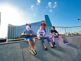 Kids at Skate Park