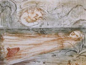 Ophelia etching