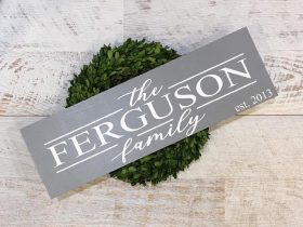Create a Family Name Sign using a stencilling method.