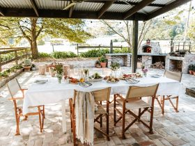 Outdoor Dining at Far Meadow Table