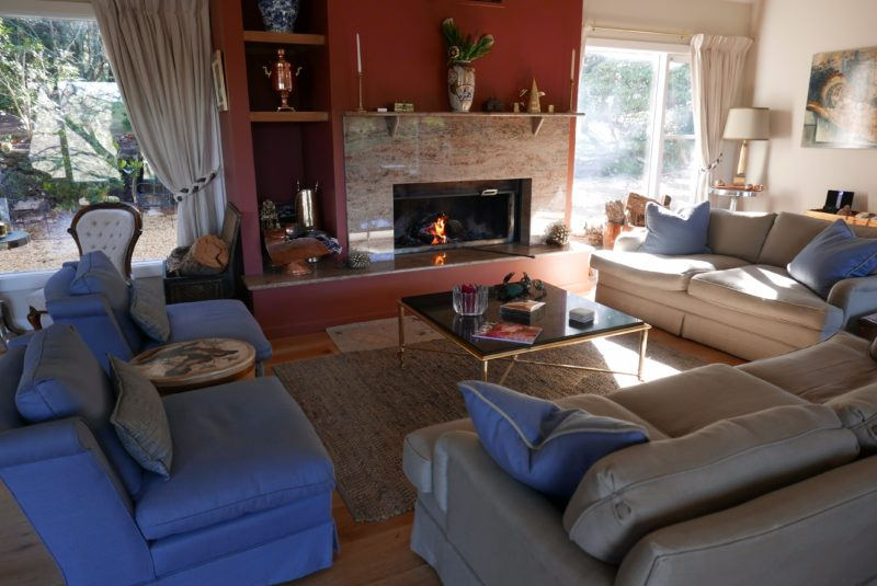 The living room is in the central area and also air-conditioned