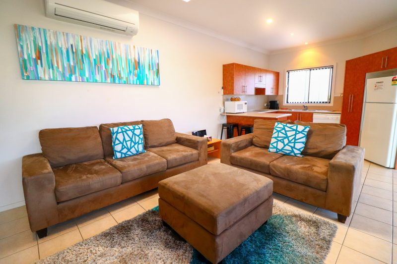 The living area is very cost