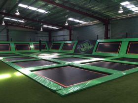 The trampolines at Flip Out Wagga Wagga