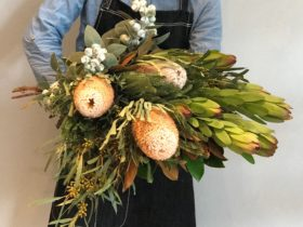 Australian native flower arranging