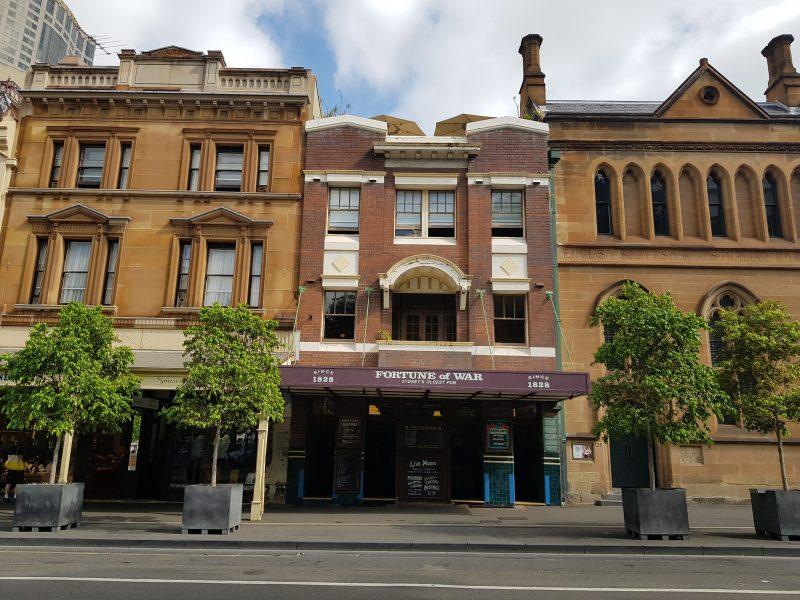 fortune of war sydney's oldest pub facade heritage building sydney