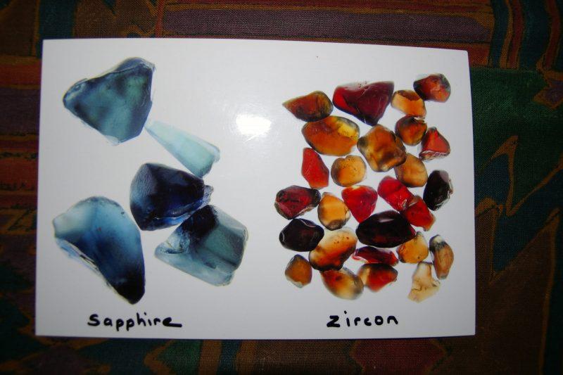 Sapphire and zircon