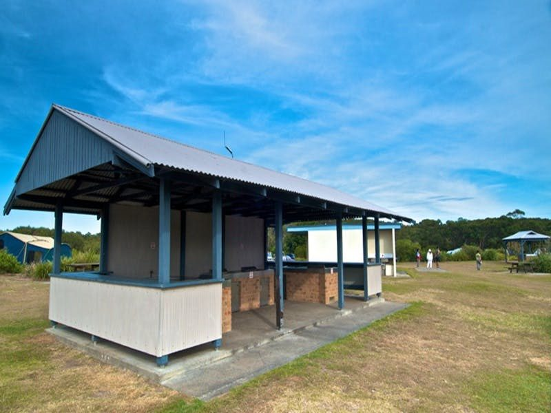 Freemans campground shelters, Munmorah State Conservation Area. Photo: John Spencer/DPIE