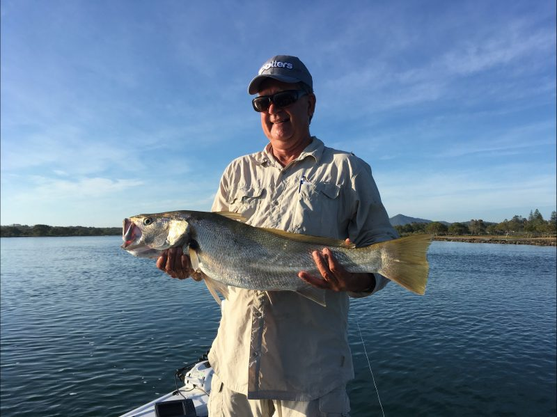 Bollinger River Mulloway or 'Jewfish' caught on a soft plastic lure