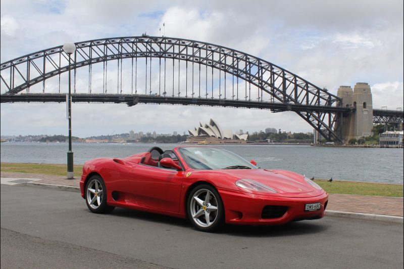 Ferrari 360 in front of Harbour Bridge