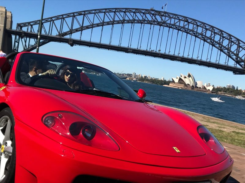 Photo shoot in a Ferrari