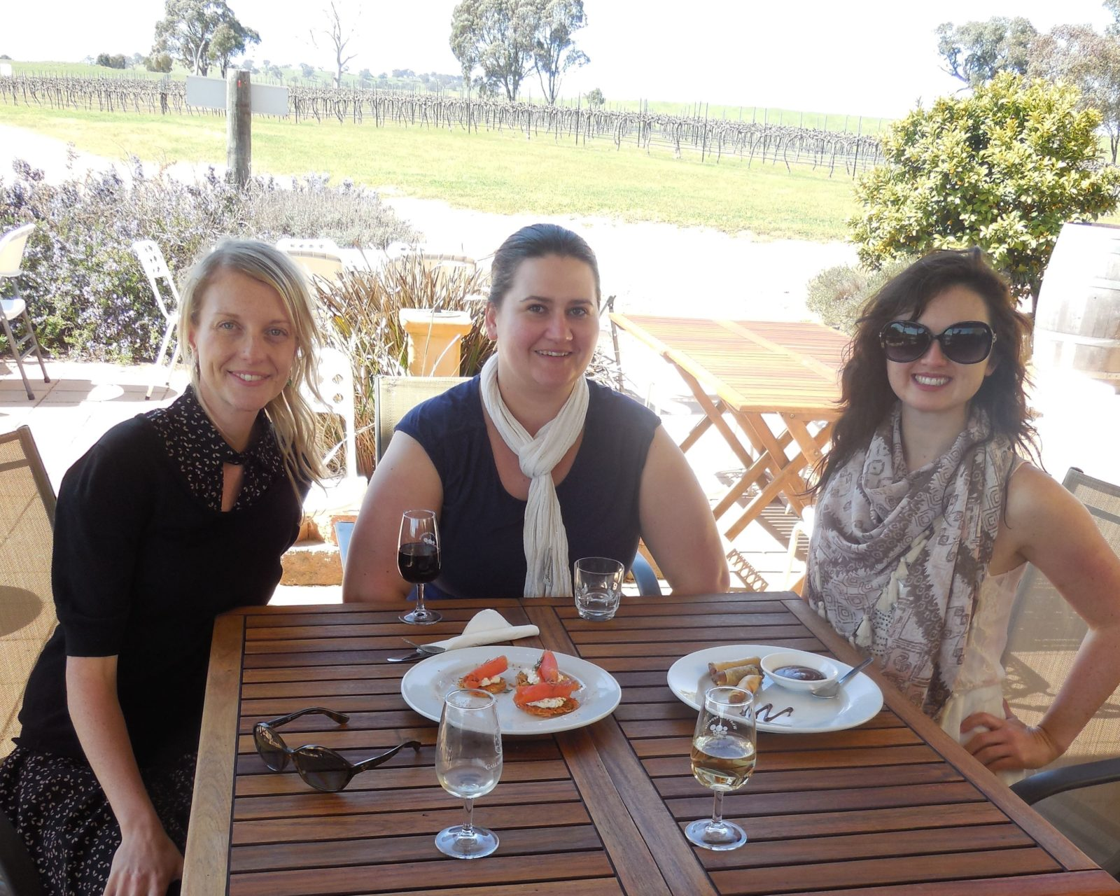 Guests enjoy cheeses and wines made at Gallagher Wines