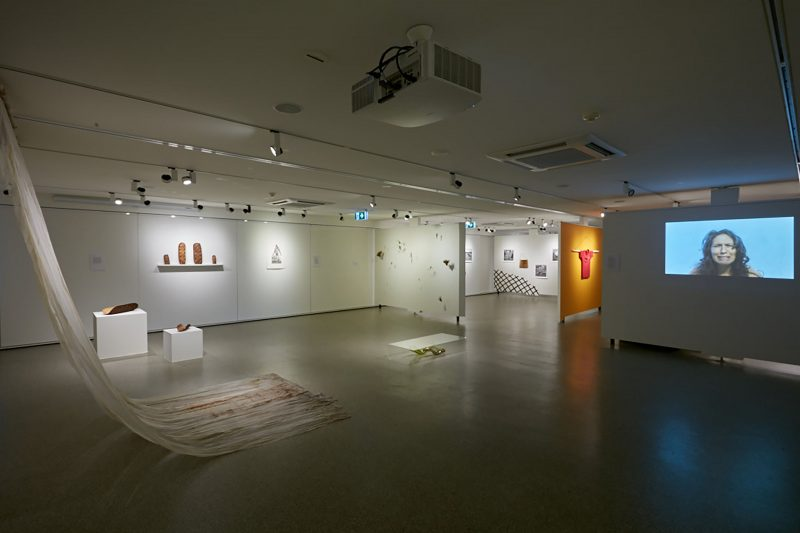 Install shot of 'Blak Mirror' curated by Jason Wing