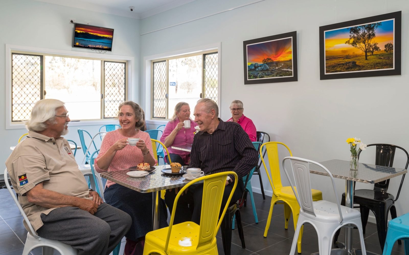 Gawura Cafe offers morning and afternoon teas and light lunches