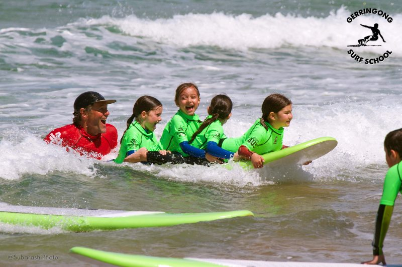 kids learn to surf