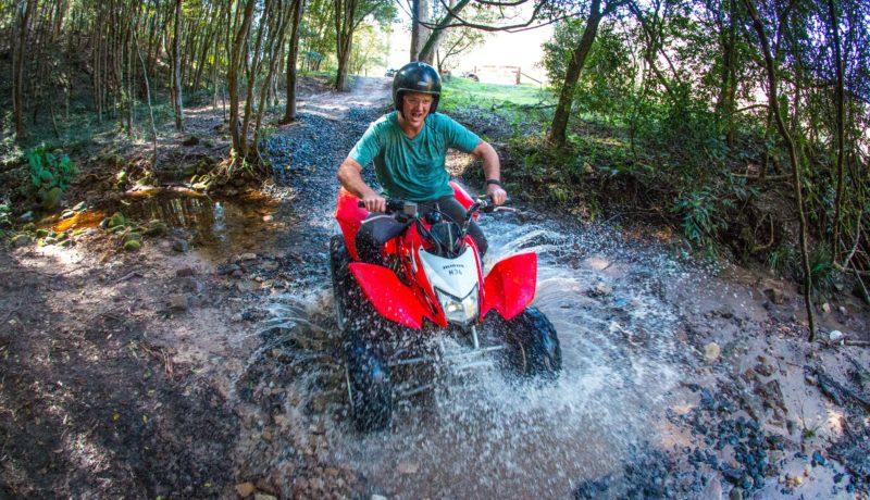quad biking at Glenworth Valley