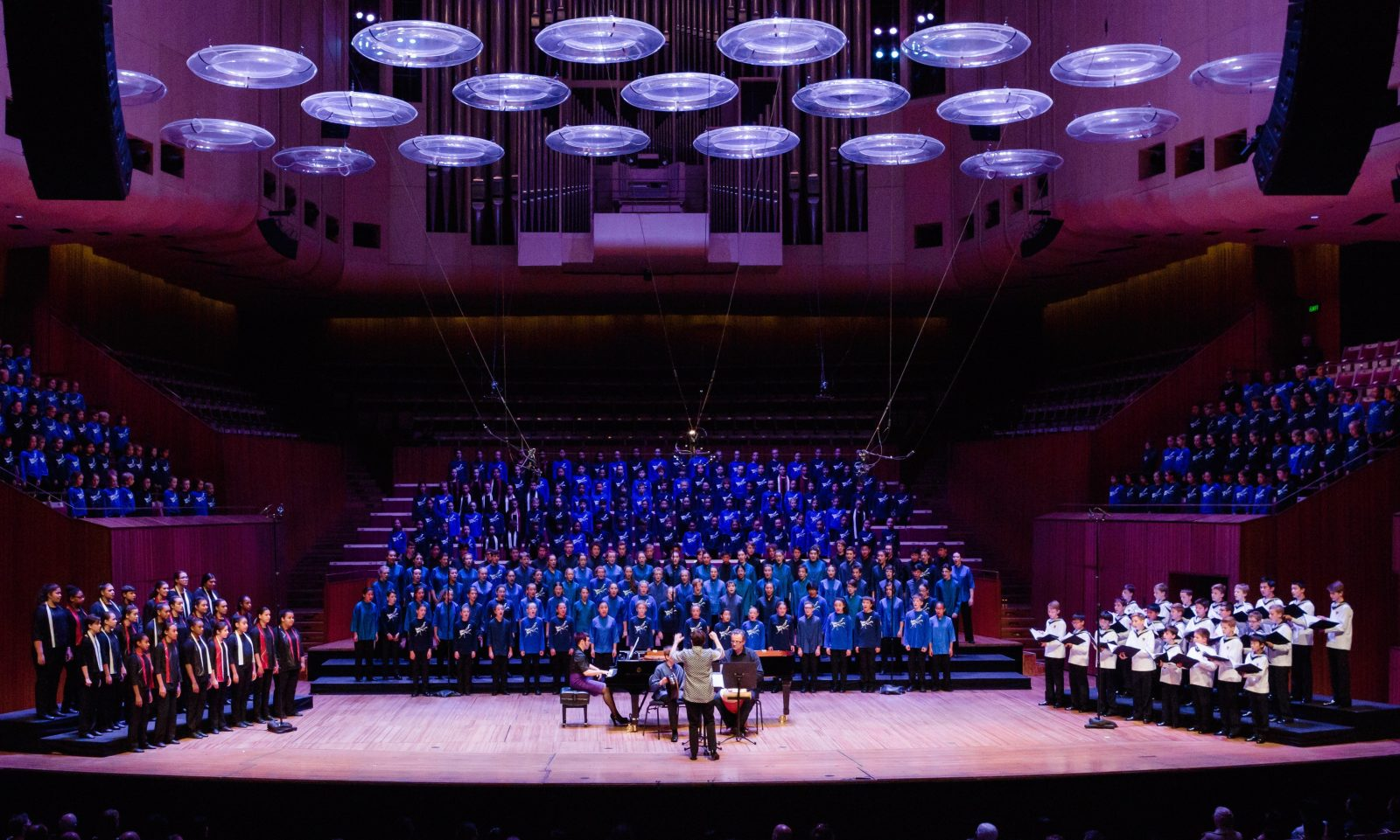 Sydney Children's Choir singing at the Sydney Opera House