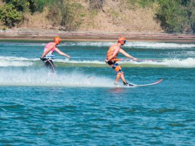 Extreme sports, water skiing, Clarence river, Grafton