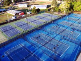The Grafton City Tennis Club birds eye view
