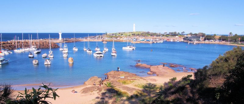 Beginning of the Blue Mile walk in Wollongong
