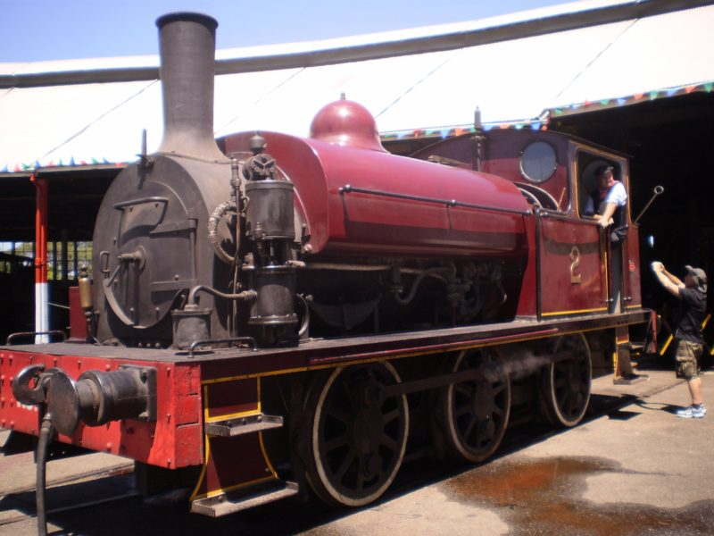 One of the many restorations. Children can ride the Steam Tram. Photographs, Paintings, Exhibits