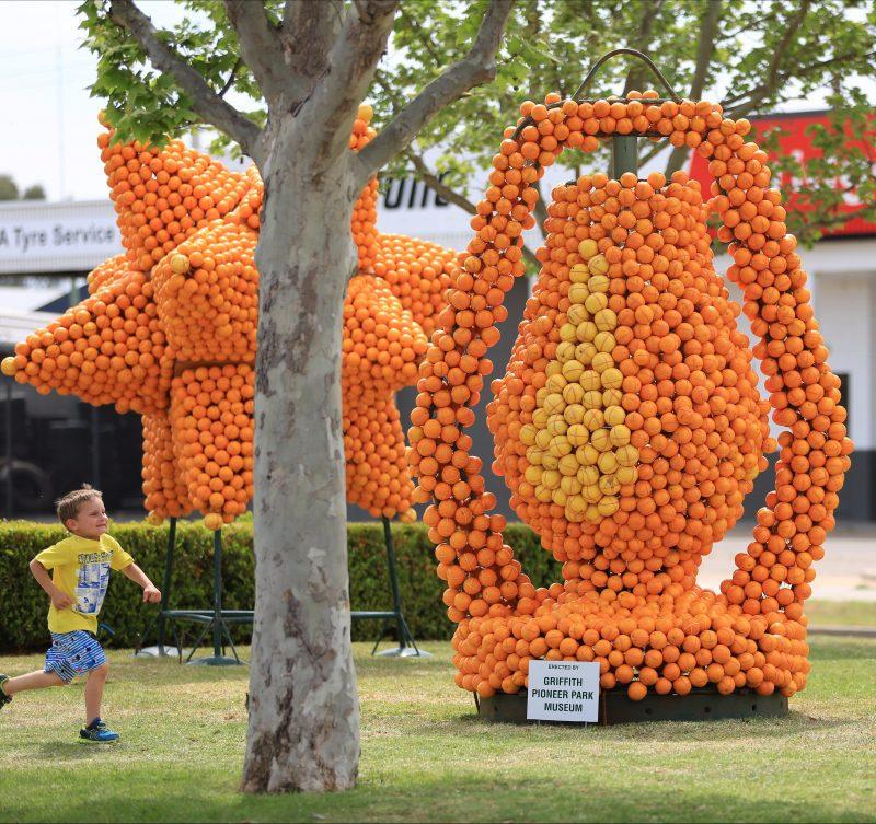 Citrus sculpture fun