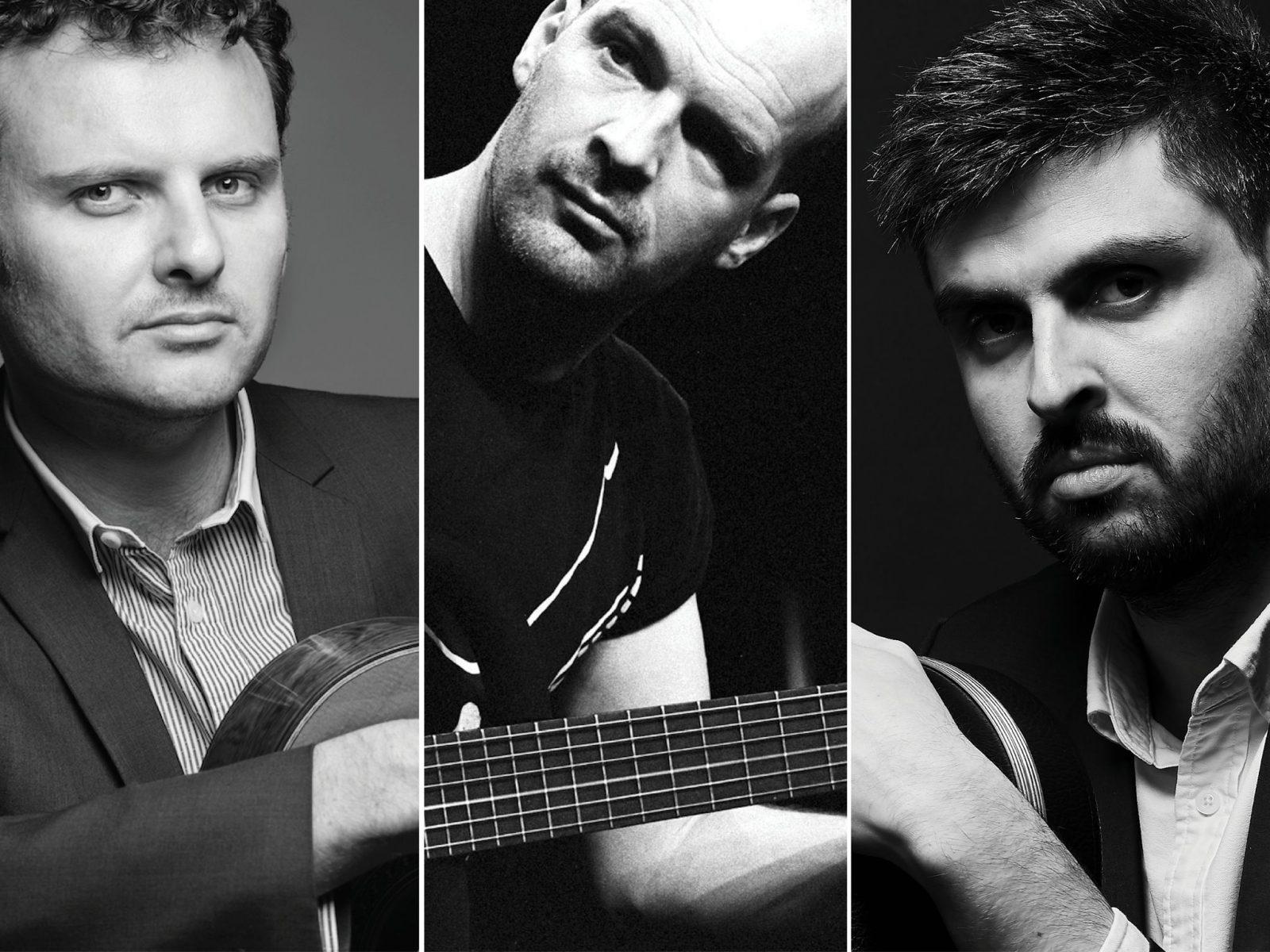 Headshots of Slava Grigoryan, Wolfgang Muthspiel and Leonard Grigoryan