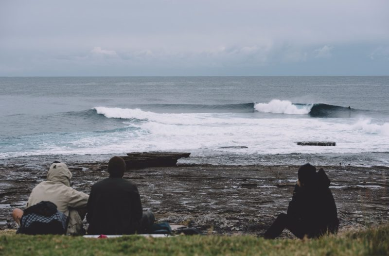 Guillotines Surf Break in Winter