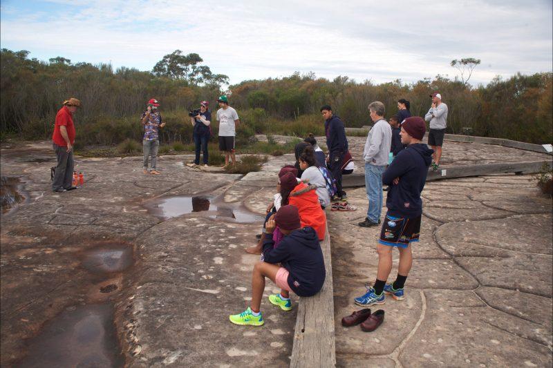 Aboriginal engraving site