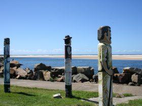 Timber statues at Harrington