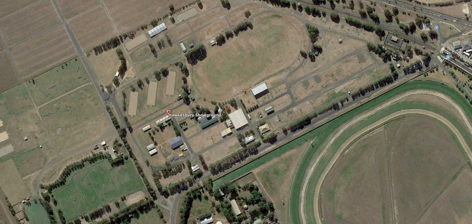 This shows the entire area of the showground