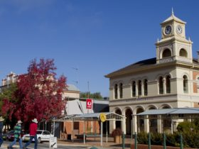 Main street of Hay, New South Wales, with Post Office