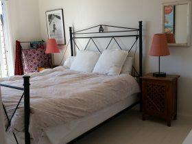 Main bedroom. Opens onto deck.